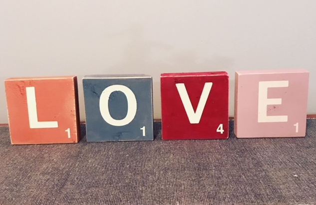 Scrabble LOVE Blocks Set ...
